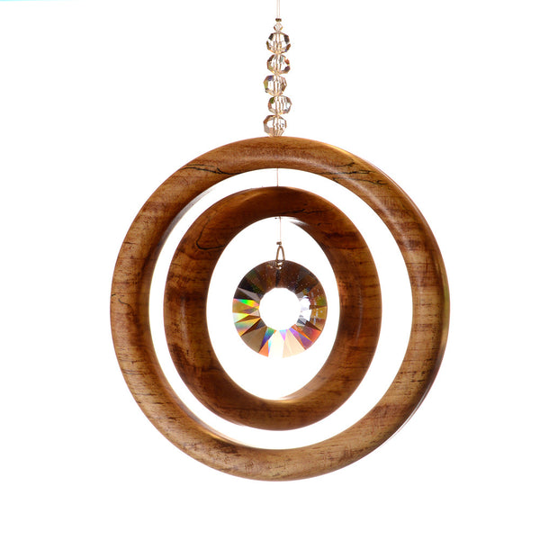 2 Ring Spalted Beech Suncatcher - ArtwoodIreland - 3