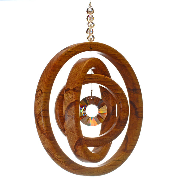 3 Ring Spalted Beech Suncatcher - ArtwoodIreland - 1