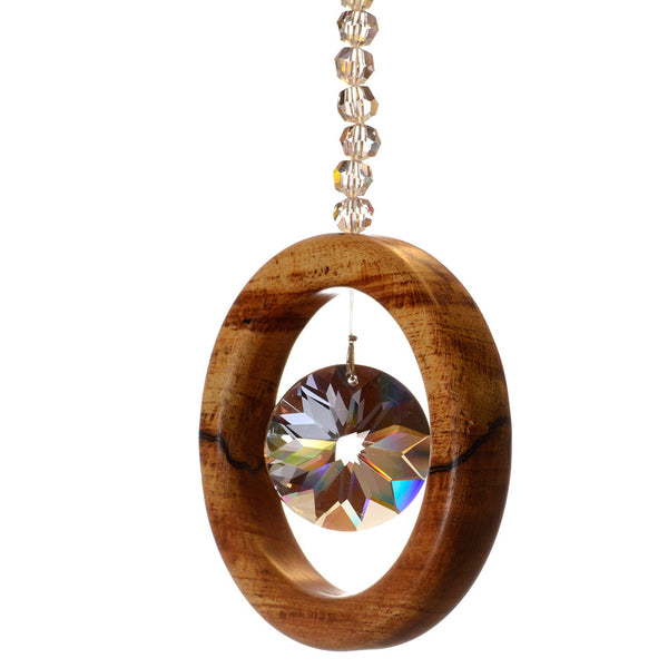 1 Ring Spalted Beech Suncatcher - ArtwoodIreland - 3