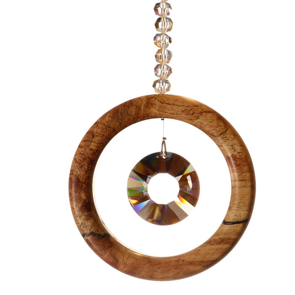 1 Ring Spalted Beech Suncatcher - ArtwoodIreland - 2
