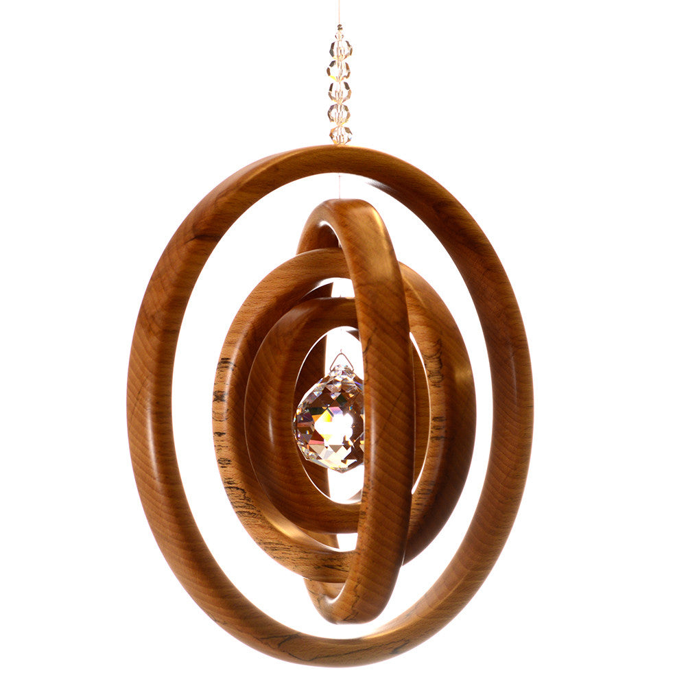 4 Ring Spalted Beech Suncatcher - ArtwoodIreland - 1