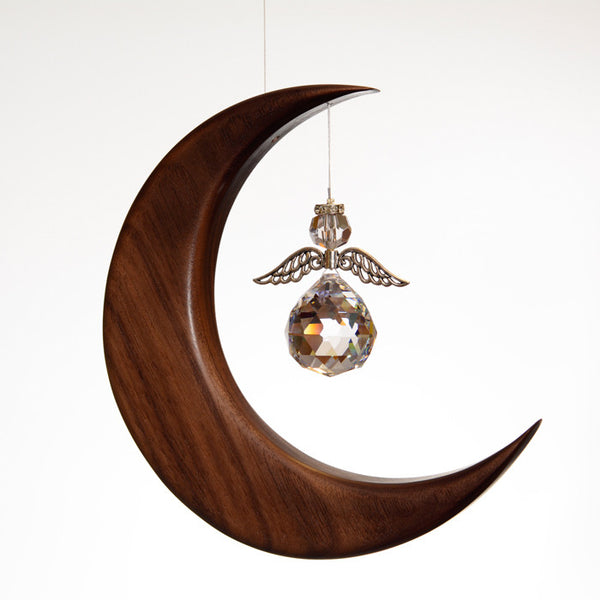 Large Walnut Moon Suncatcher - ArtwoodIreland - 2