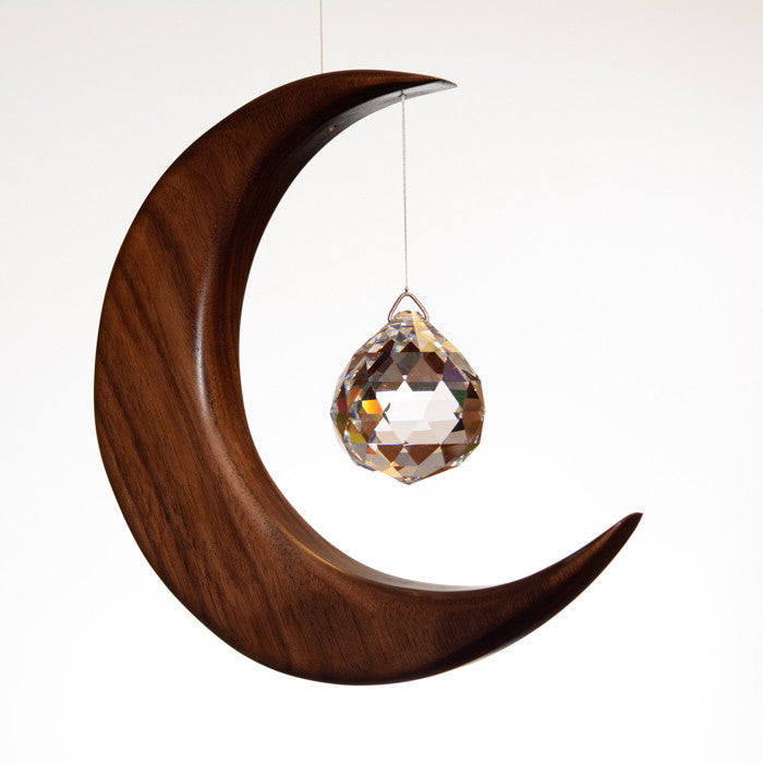 Large Walnut Moon Suncatcher - ArtwoodIreland - 1