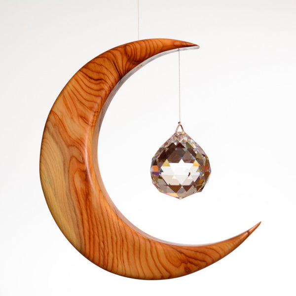 Large Yew Moon Suncatcher Gift - ArtwoodIreland - 1