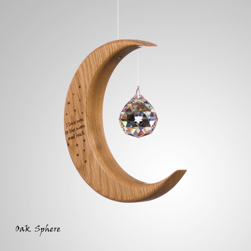 Personalised Medium Moon Suncatcher
