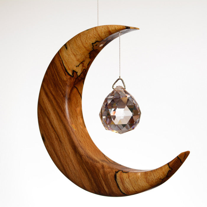 Medium Spalted Beech Suncatcher - ArtwoodIreland - 1