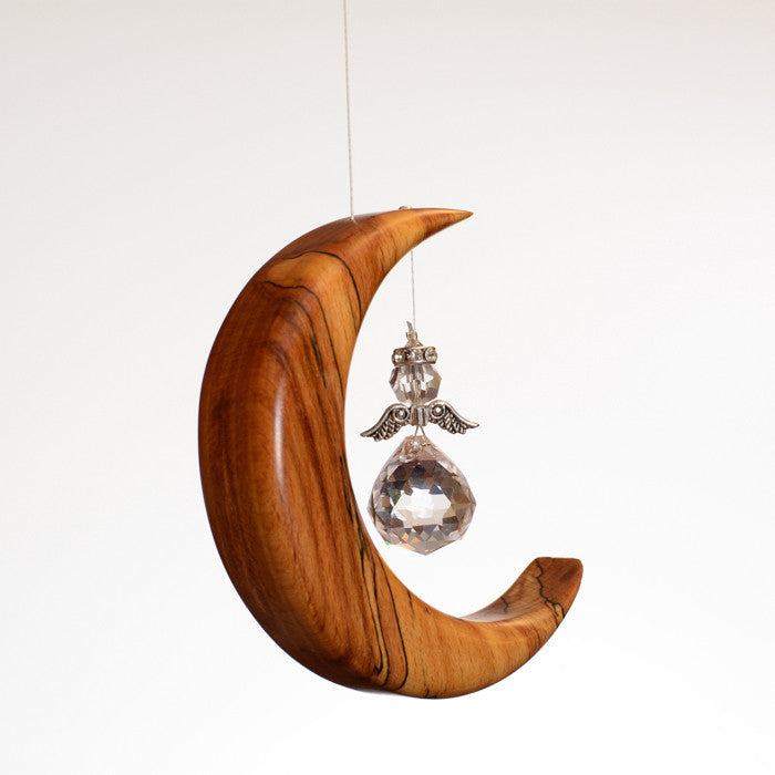 Small Spalted Beech Moon Suncatcher - ArtwoodIreland - 2
