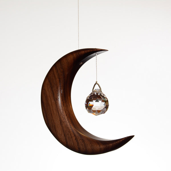 Small Walnut Moon Suncatcher - ArtwoodIreland - 1