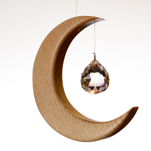 Medium Ash Wood Moon Suncatcher - ArtwoodIreland - 1