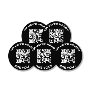 Voter Registration QR Code Sticker (Pack of 10)