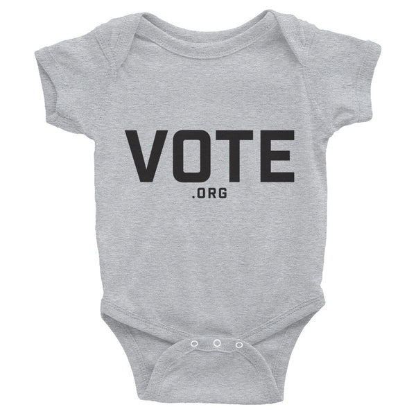 Infant onesie - Vote.org hipster logo