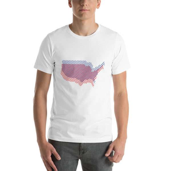 Unisex tee -- Stylized USA map