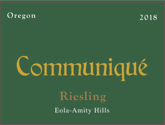 2018 Eola-Amity Riesling