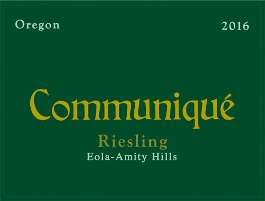Eola-Amity Riesling