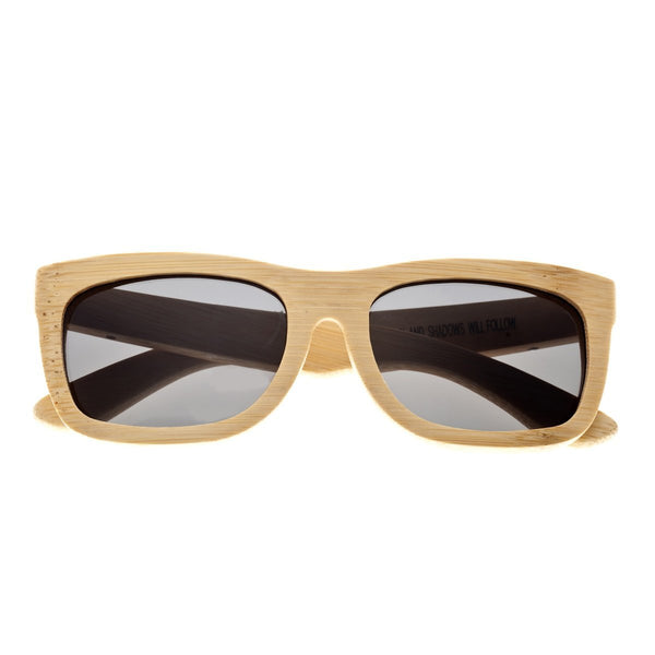 Earth Wood Nantucket Sunglasses w/ Polarized Lenses - Khaki/Black