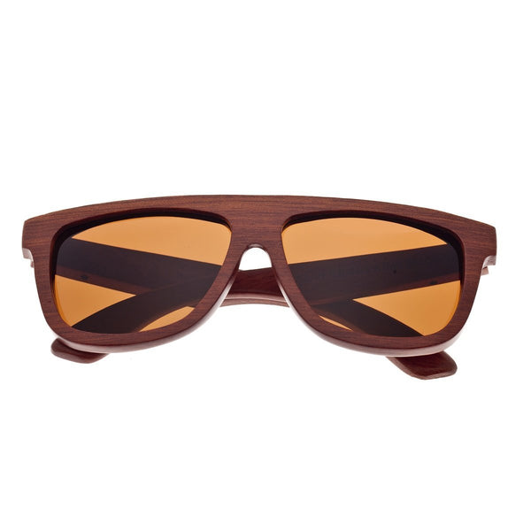 Earth Wood Imperial Sunglasses w/ Polarized Lenses - Red Rosewood/Brown
