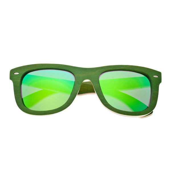 Earth Wood Malibu Sunglasses w/ Polarized Lenses - Green