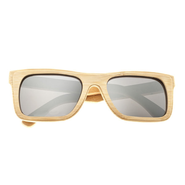 Earth Wood Ona Sunglasses w/ Polarized Lenses - Khaki/Silver