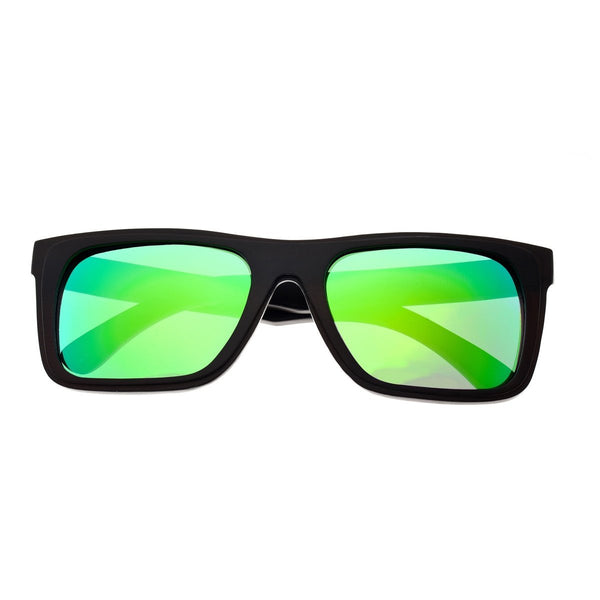 Earth Wood Ona Sunglasses w/ Polarized Lenses - Espresso/Green