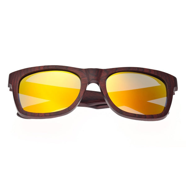 Earth Wood Panama Sunglasses w/ Polarized Lenses - Rosewood Ebony/Brown