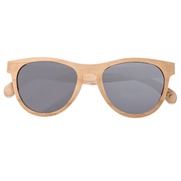 Earth Wood Del Carmen Sunglasses w/ Polarized Lenses - Bamboo/Black