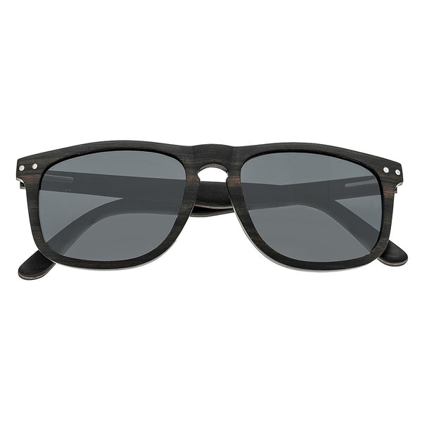 Earth Wood Pacific Sunglasses w/Polarized Lenses - Espresso/Black