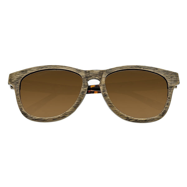 Earth Wood Cove Sunglasses w/ Polarized Lenses - Brown/Brown