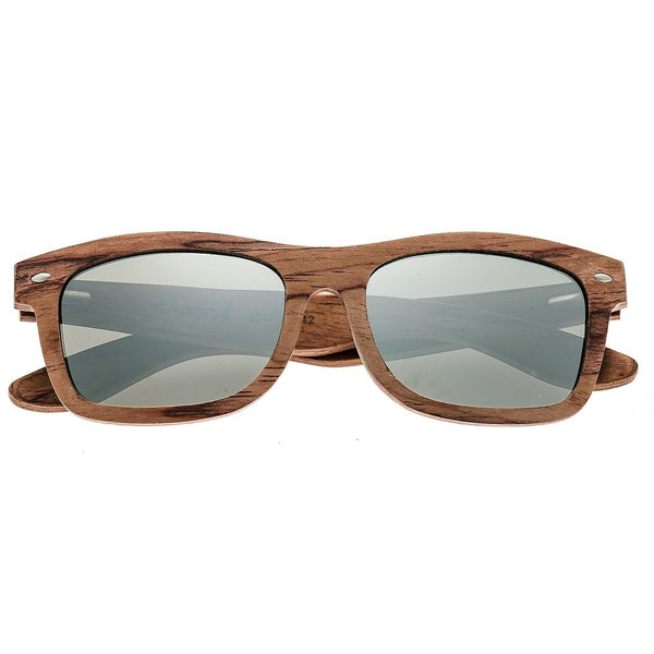 Earth Wood Maya Sunglasses w/ Polarized Lenses - Red Rosewood/Silver
