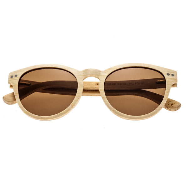 Earth Wood Copacabana Sunglasses w/Polarized Lenses - Bamboo/Brown