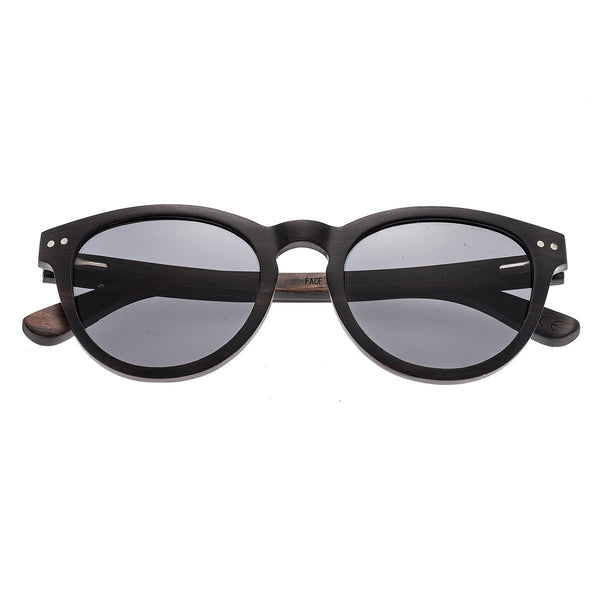 Earth Wood Copacabana Sunglasses w/ Polarized Lenses - Espresso/Black