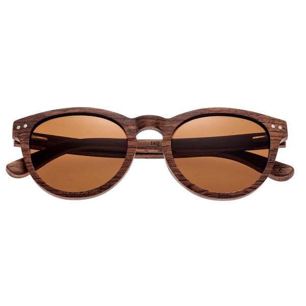 Earth Wood Copacabana Sunglasses w/Polarized Lenses - Red Rosewood/Brown