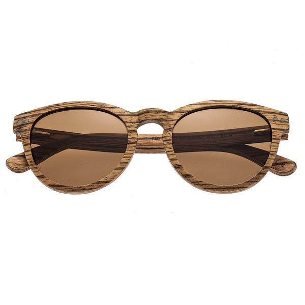 Earth Wood Copacabana Sunglasses w/Polarized Lenses - Zebrawood/Brown
