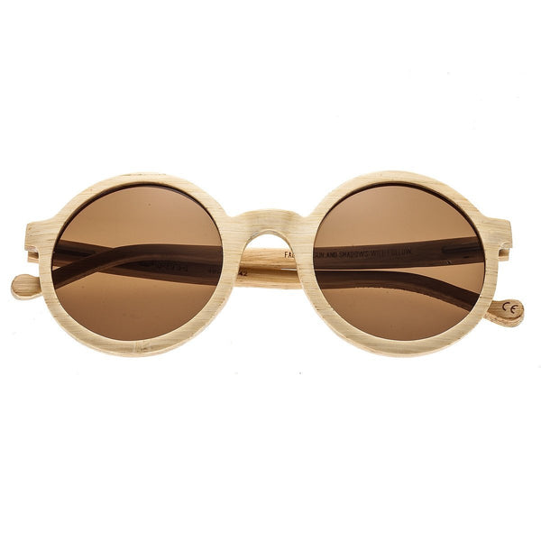 Earth Wood Canary Sunglasses w/Polarized Lenses - Bamboo/Brown