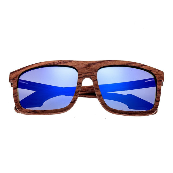 Earth Wood Aroa Sunglasses w/Polarized Lenses - Red Rosewood/Purple-Blue