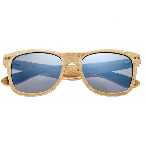 Earth Wood Cape Cod Sunglasses w/ Polarized Lenses - Bamboo/Celeste