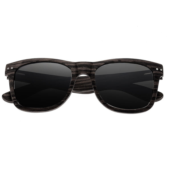 Earth Wood Cape Cod Sunglasses w/ Polarized Lenses - Ebony/Silver