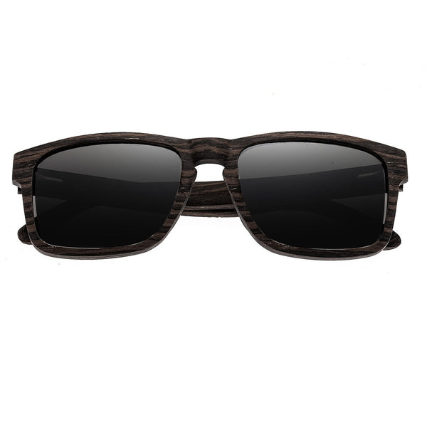 Earth Wood Whitehaven Sunglasses w/ Polarized Lenses - Ebony/Black