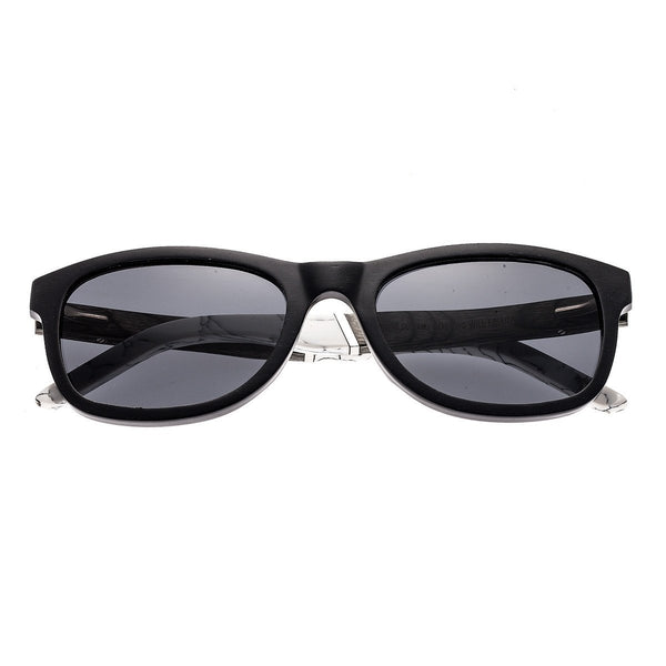 Earth Wood El Nido Sunglasses w/Polarized Lenses - Black/Black