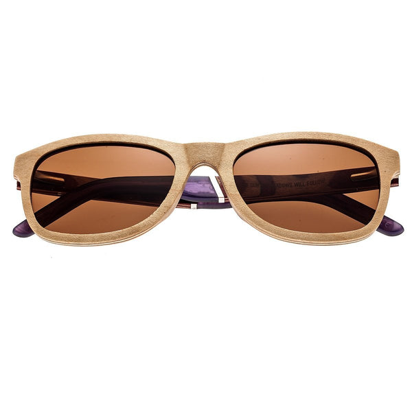 Earth Wood El Nido Sunglasses w/Polarized Lenses - Birch-wood/Brown