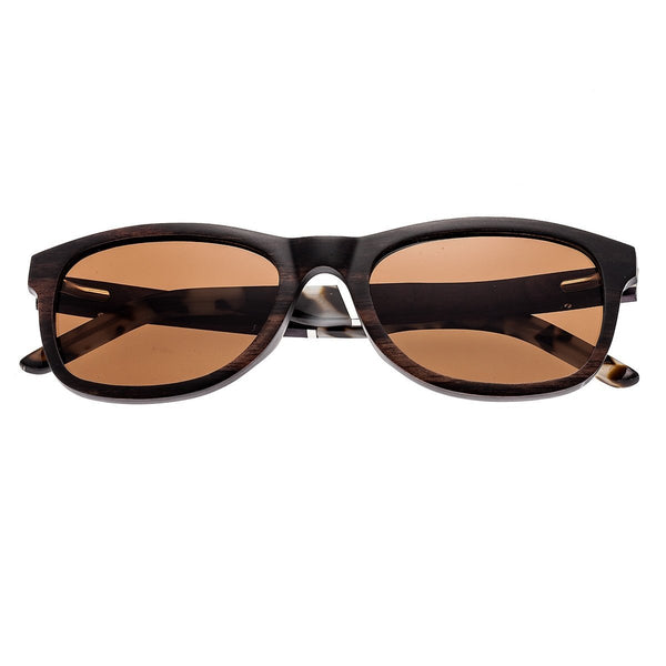 Earth Wood El Nido Sunglasses w/ Polarized Lenses - Ebony/Brown