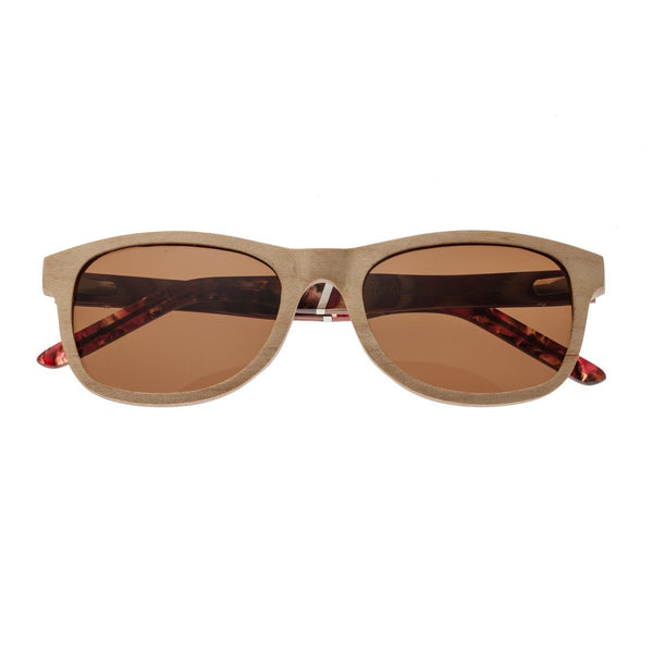 Earth Wood El Nido Sunglasses w/ Polarized  Lenses -Khaki/tan/Brown