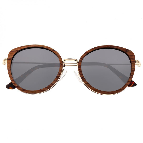 Earth Wood Oreti Sunglasses w/ Polarized Lenses - Annato/Silver