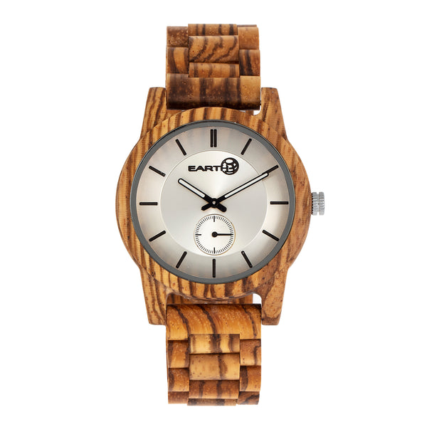 Earth Wood Blue Ridge Bracelet Watch - Zebra