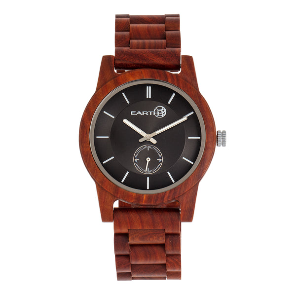 Earth Wood Blue Ridge Bracelet Watch - Red
