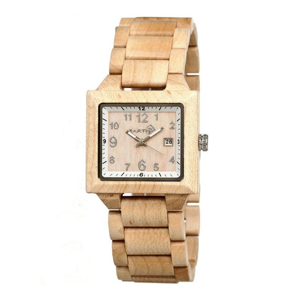 Earth Wood Culm Bracelet Watch w/Date - Khaki/Tan