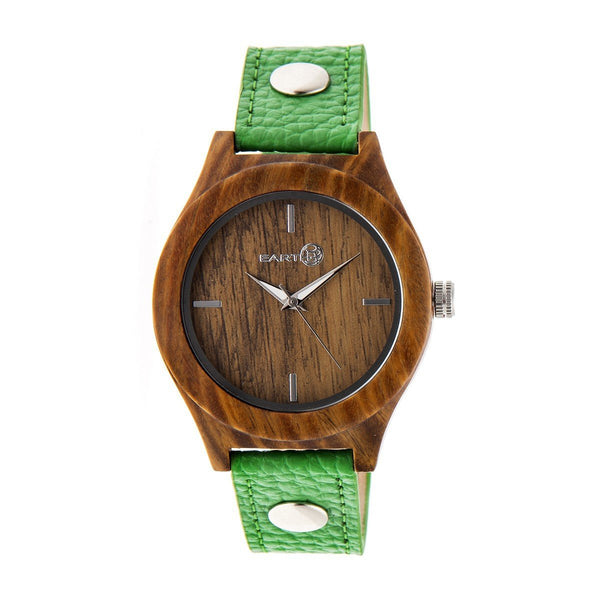 Earth Wood Tannins Leather-Band Watch - Olive
