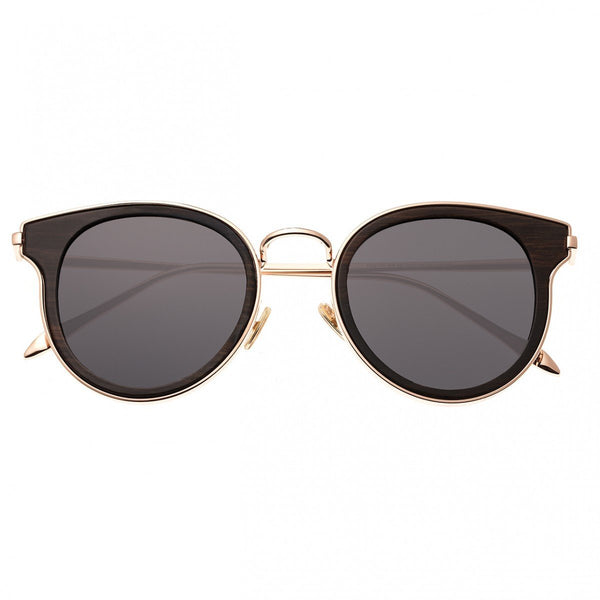 Earth Wood Derawan Sunglasses w/Polarized Lenses - Espresso/Black