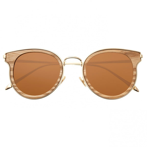 Earth Wood Derawan Sunglasses w/Polarized Lenses - Walnut/Brown