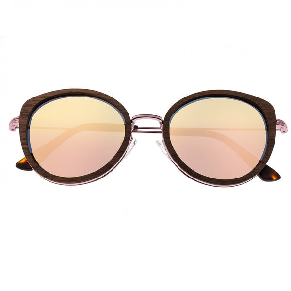 Earth Wood Oreti Sunglasses w/ Polarized Lenses - Monzo/Rose Gold