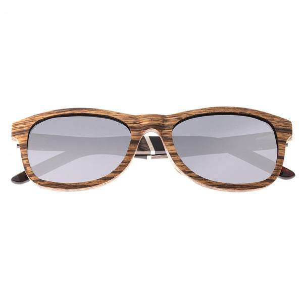 Earth Wood El Nido Sunglasses w/ Polarized Lenses - Zebrawood/Black
